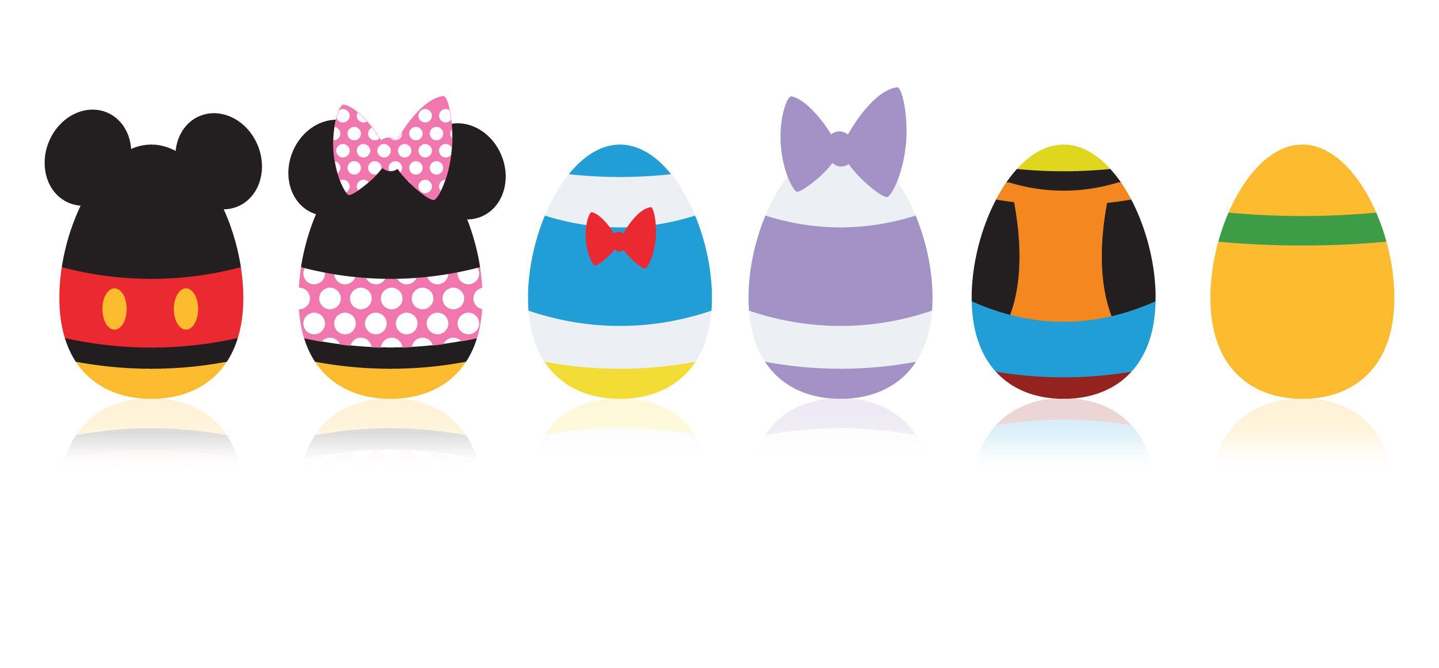 Minimalist Mickey Eggs Disney Easter