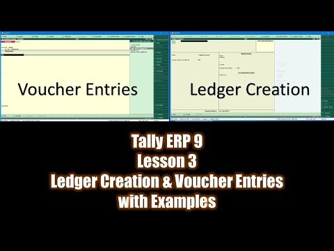 Next Step After Creating A New Company In Tally Erp Is To Start Creating New Ledger Accounts Followed By Voucher Entries Thes Lesson Accounting Books Tutorial