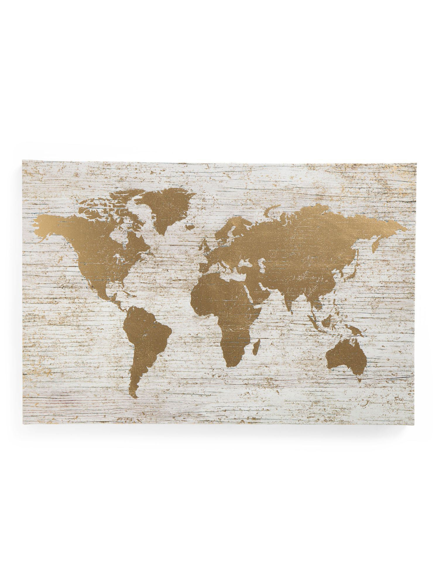 Large gold foil world map on canvas global home tjxx large gold foil world map on canvas global home tjxx gumiabroncs Image collections