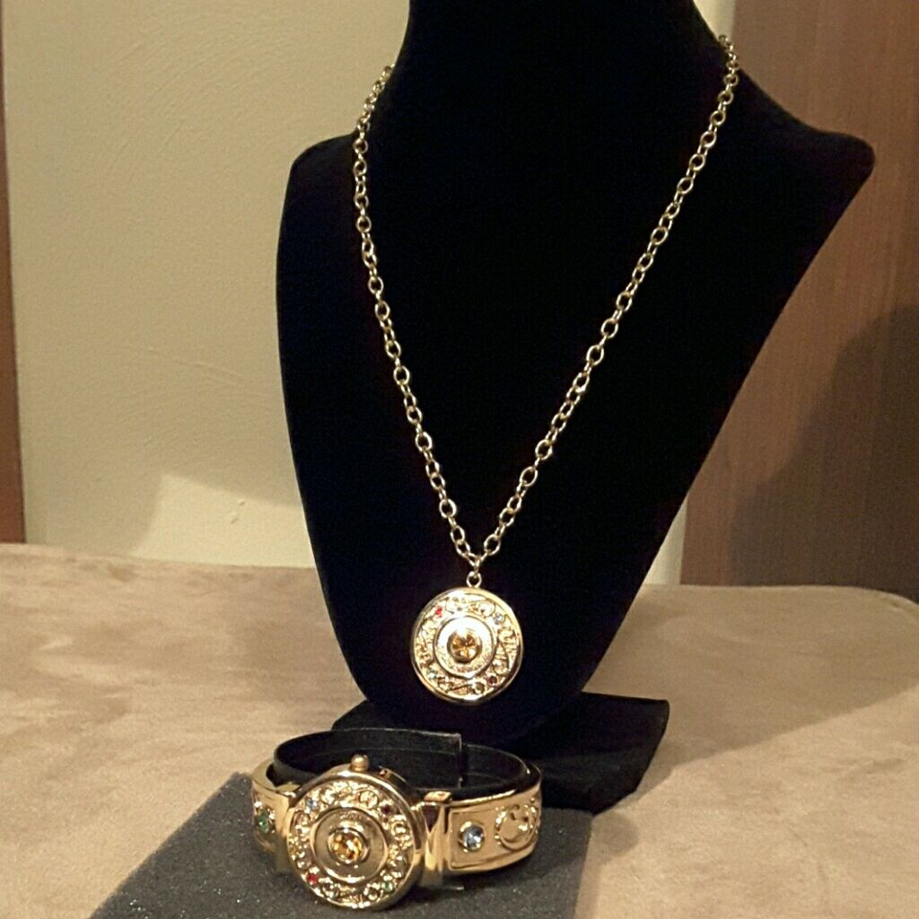 d428aff60b8345 New Necklace And Watch/Cuff Bracelet Set By Pov   Products ...