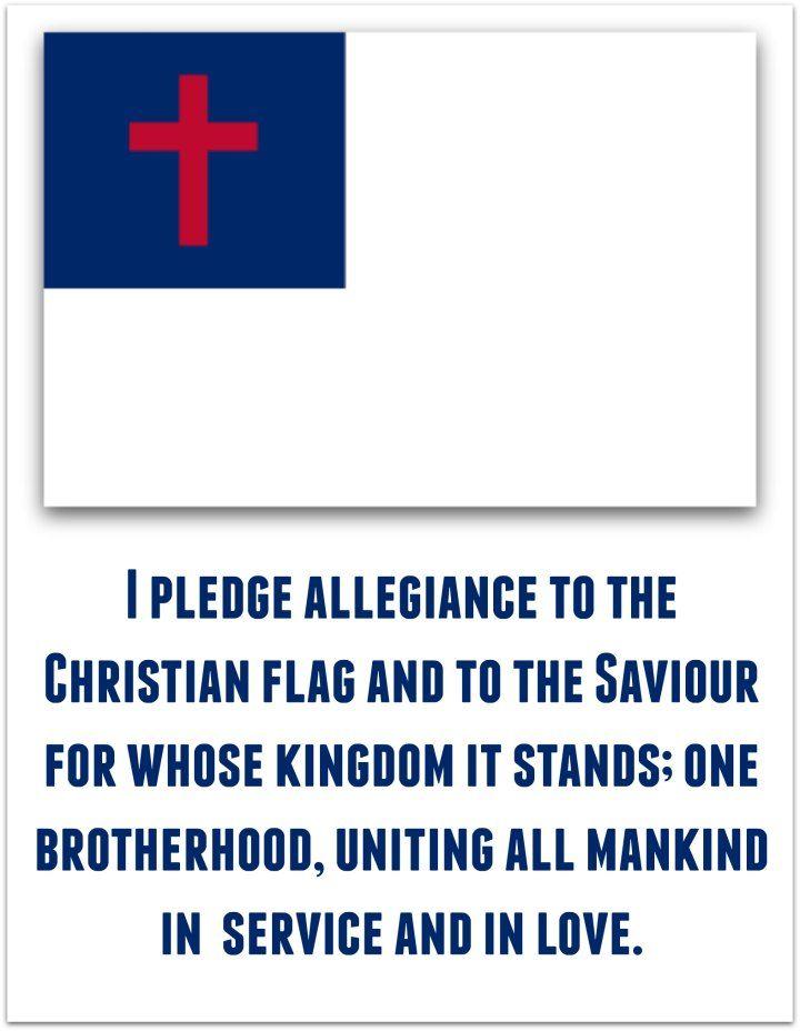 Pledge To The Christian Flag Pledge To The Christian Flag Christian Flag Christian Classroom