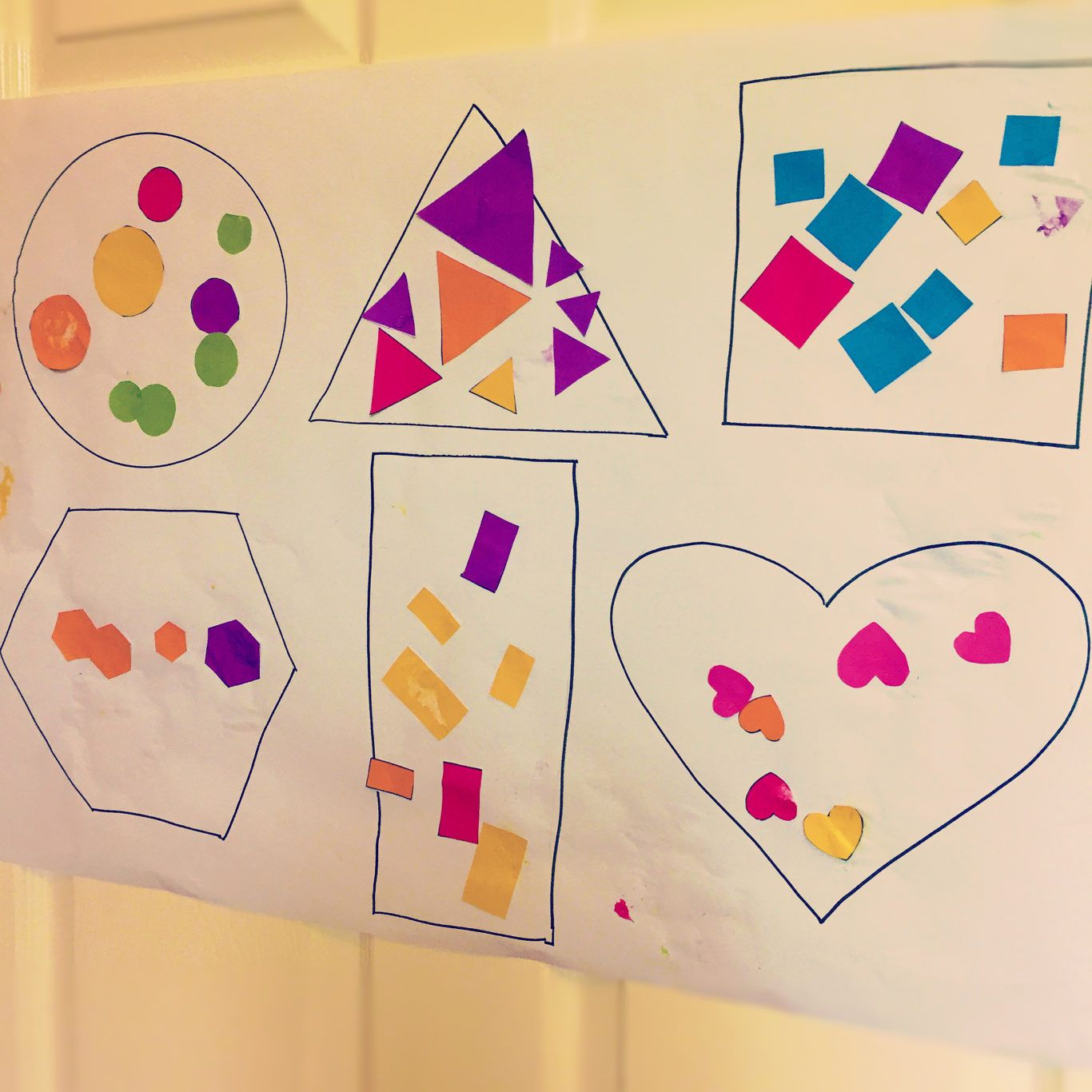Sticky Shape Sorting Activity