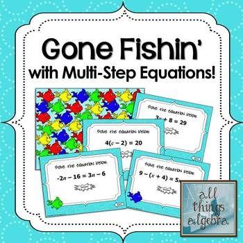 Multi-Step Equations Gone Fishin\' Game | Equation, Math and Algebra