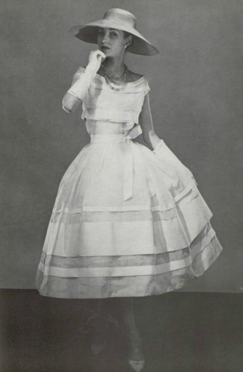 1956 Christian Dior Ladies Really Did Dress Like This