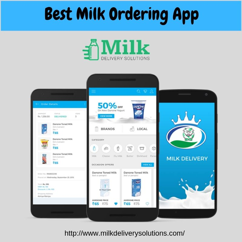 Are you looking a mobile app for milk delivery? Click the