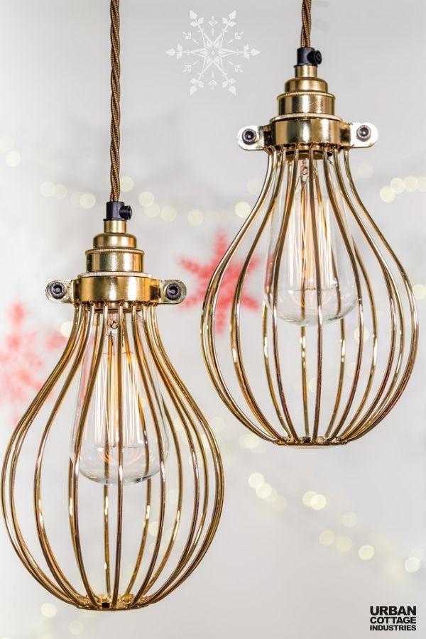 Buy Cage Pendant Lights & Light Fittings - Urban Cottage Industries #pendantlighting