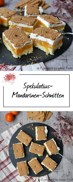 Spekulatius-Mandarinen-Schnitten #cakedesigns