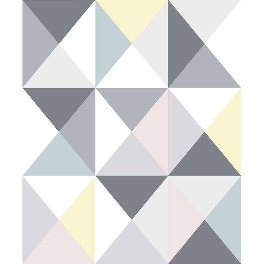 Papier peint papier Polygone multicouleur Idées et créations