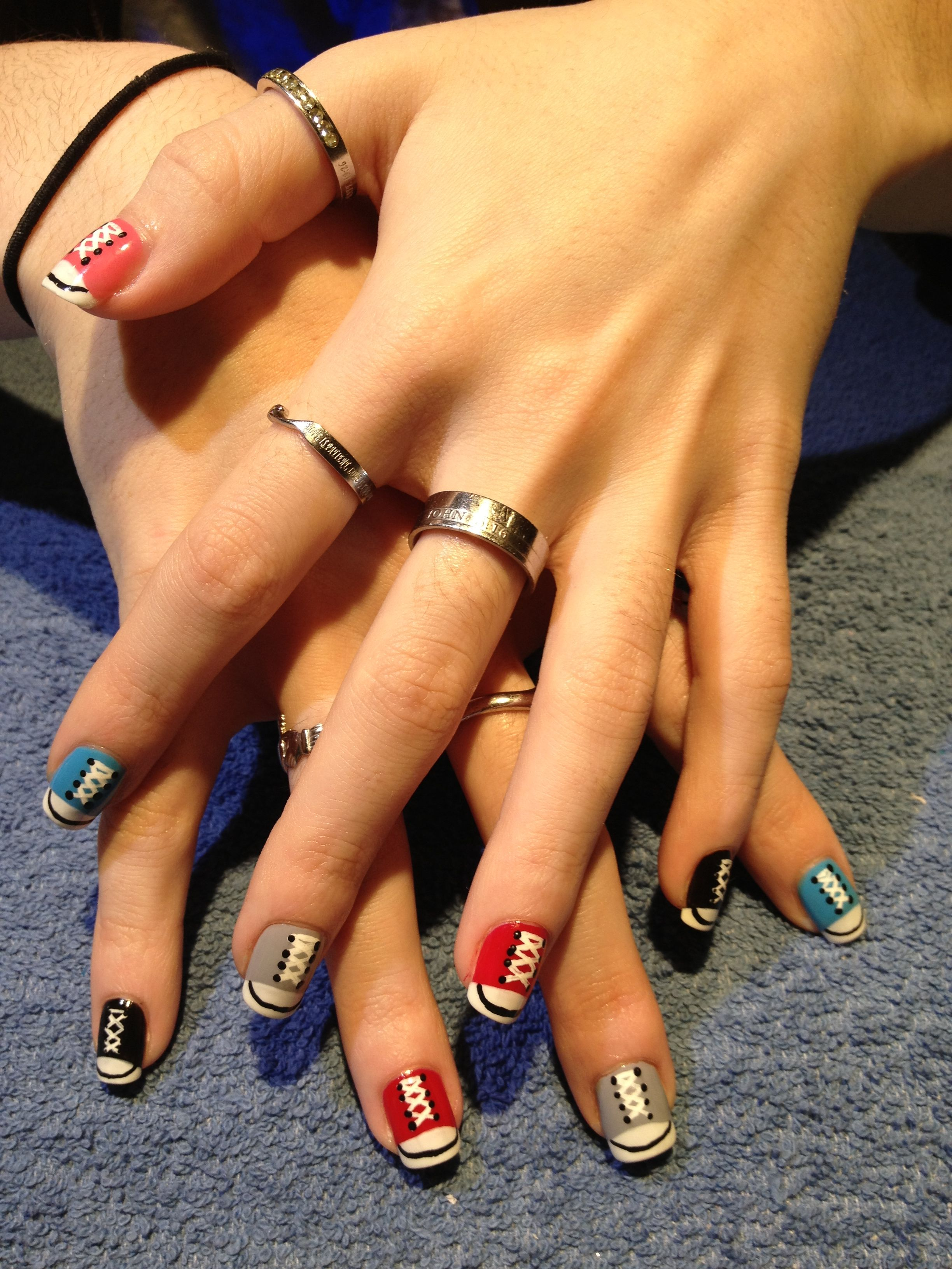 """""""On the Run"""" nail design by Corinne of Suede Salon Spa and"""