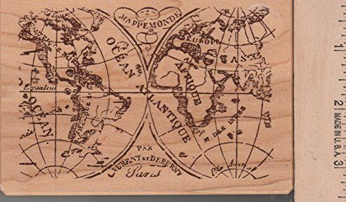 Old world map rubber stamp inkadinkado httpamazondp old world map rubber stamp inkadinkado httpamazon gumiabroncs Image collections