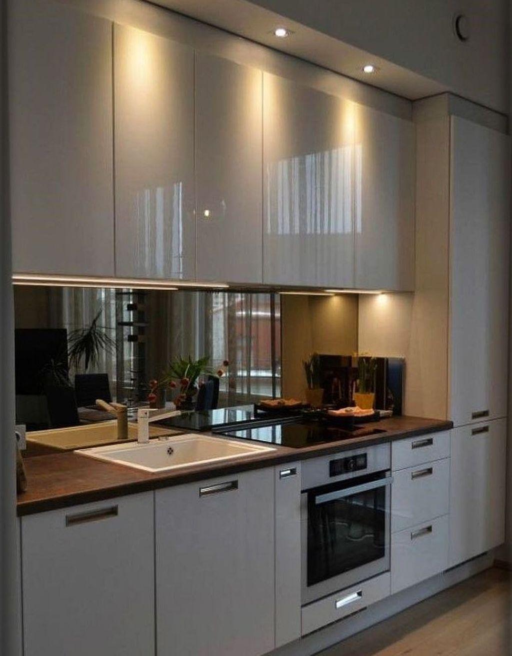 35 Cool Kitchen Design Ideas With Temporary Looks In 2020 Modern Kitchen Renovation Small Kitchen Plans Modern Kitchen