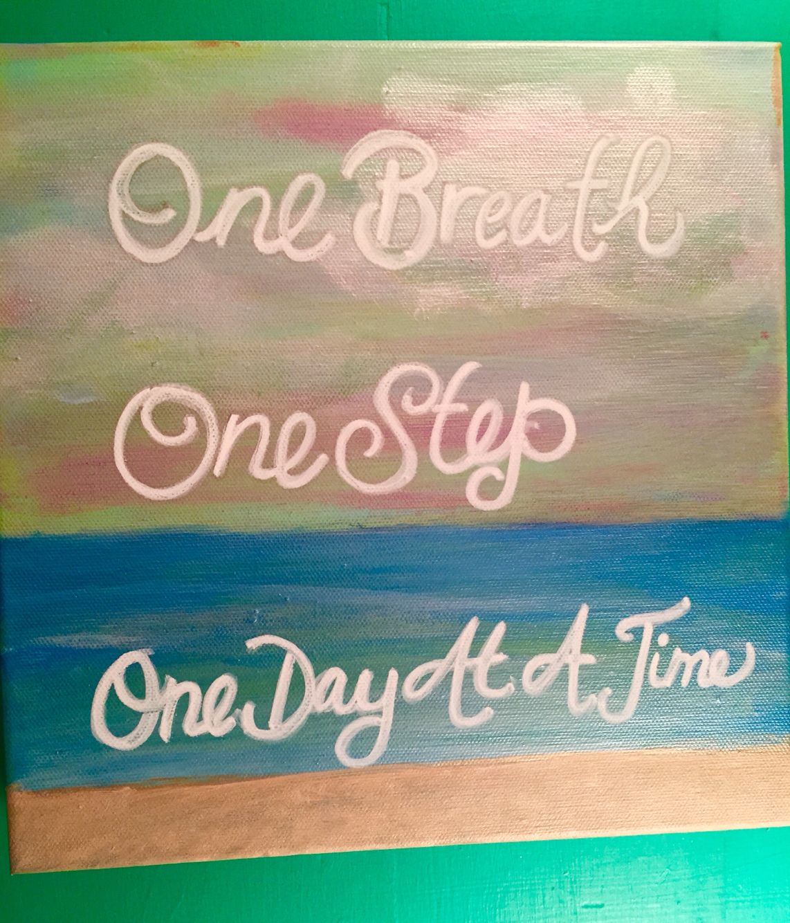 Etsy Art One Breath One Step One Day At A Time Kindleigh Art Check Us Out