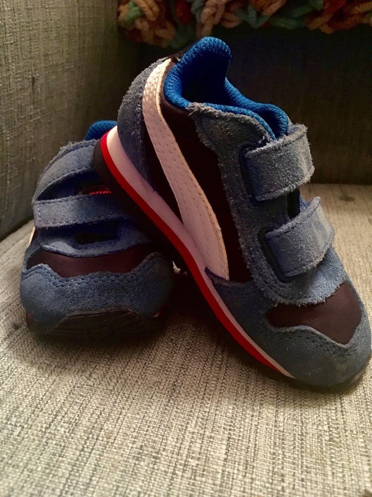 7afc3d30a6ef6a Puma Kids Simply Blue Red Suede Toddler Sneakers Shoes Size 5  fashion   clothing  shoes  accessories  babytoddlerclothing  babyshoes (ebay link)