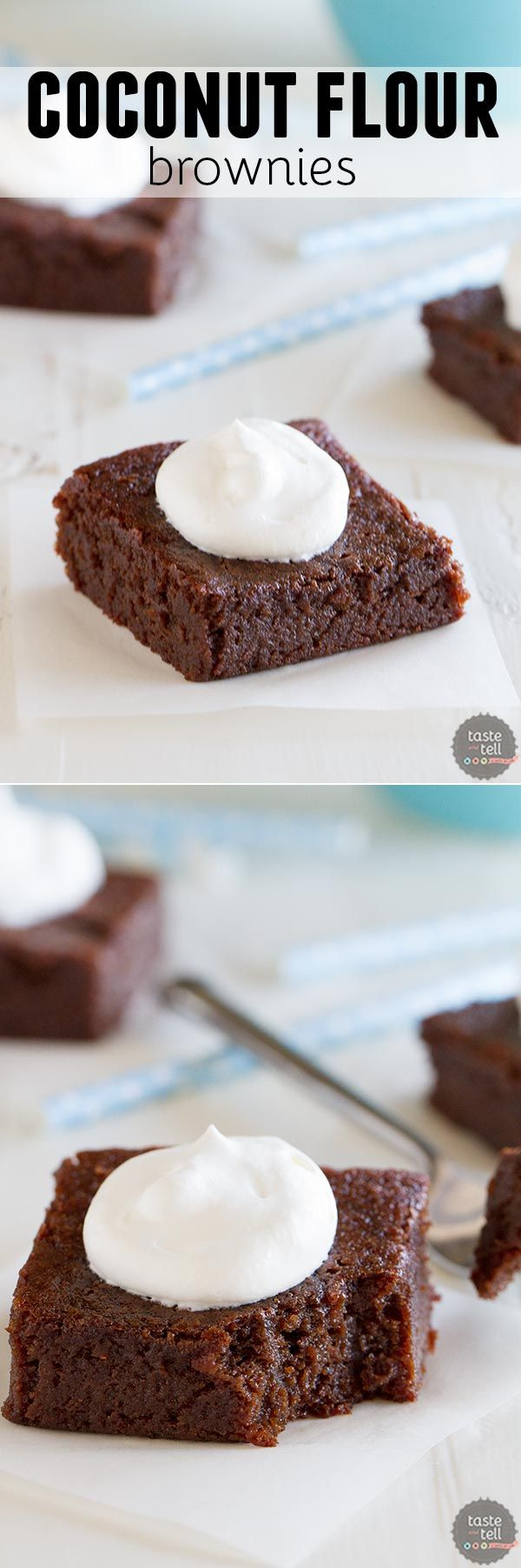 These moist, dense and fudgy Coconut Flour Brownies will convert you even if you aren't grain free! Dairy free option is also included.