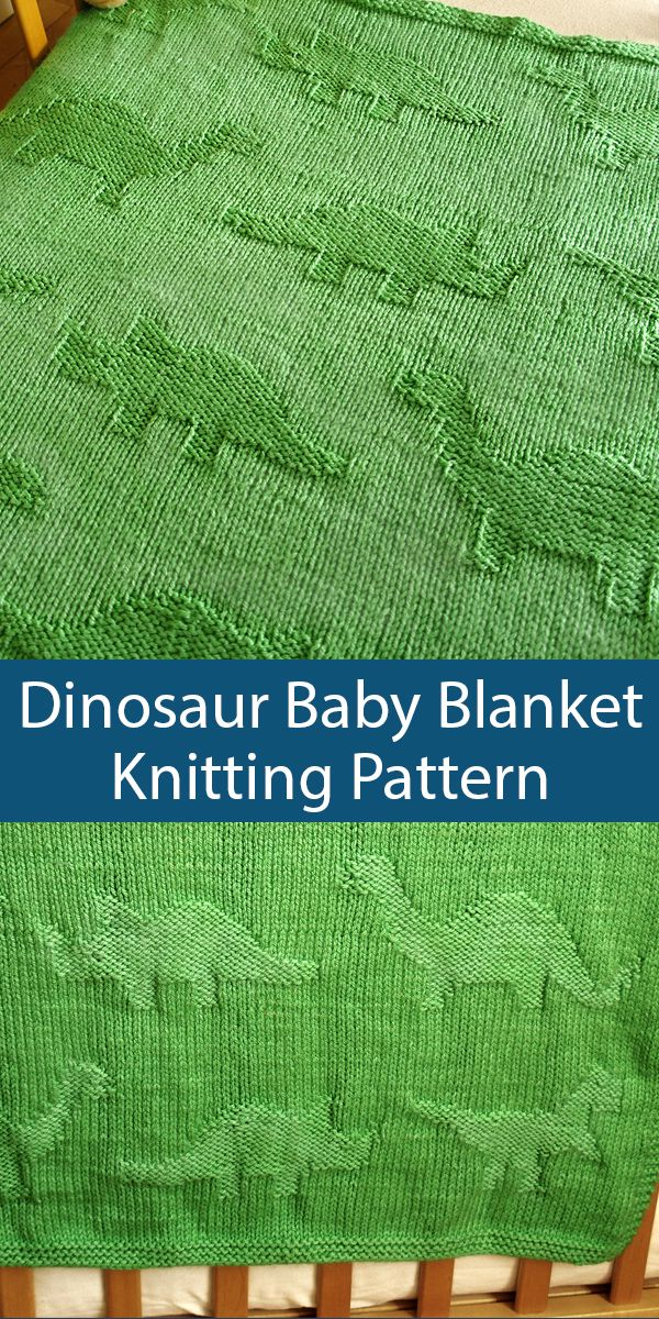 Knitting Pattern for Dinosaur Baby Blanket