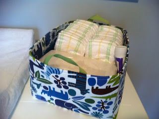 If I Can Do It, So Could You: Fabric Bins for the Nursery