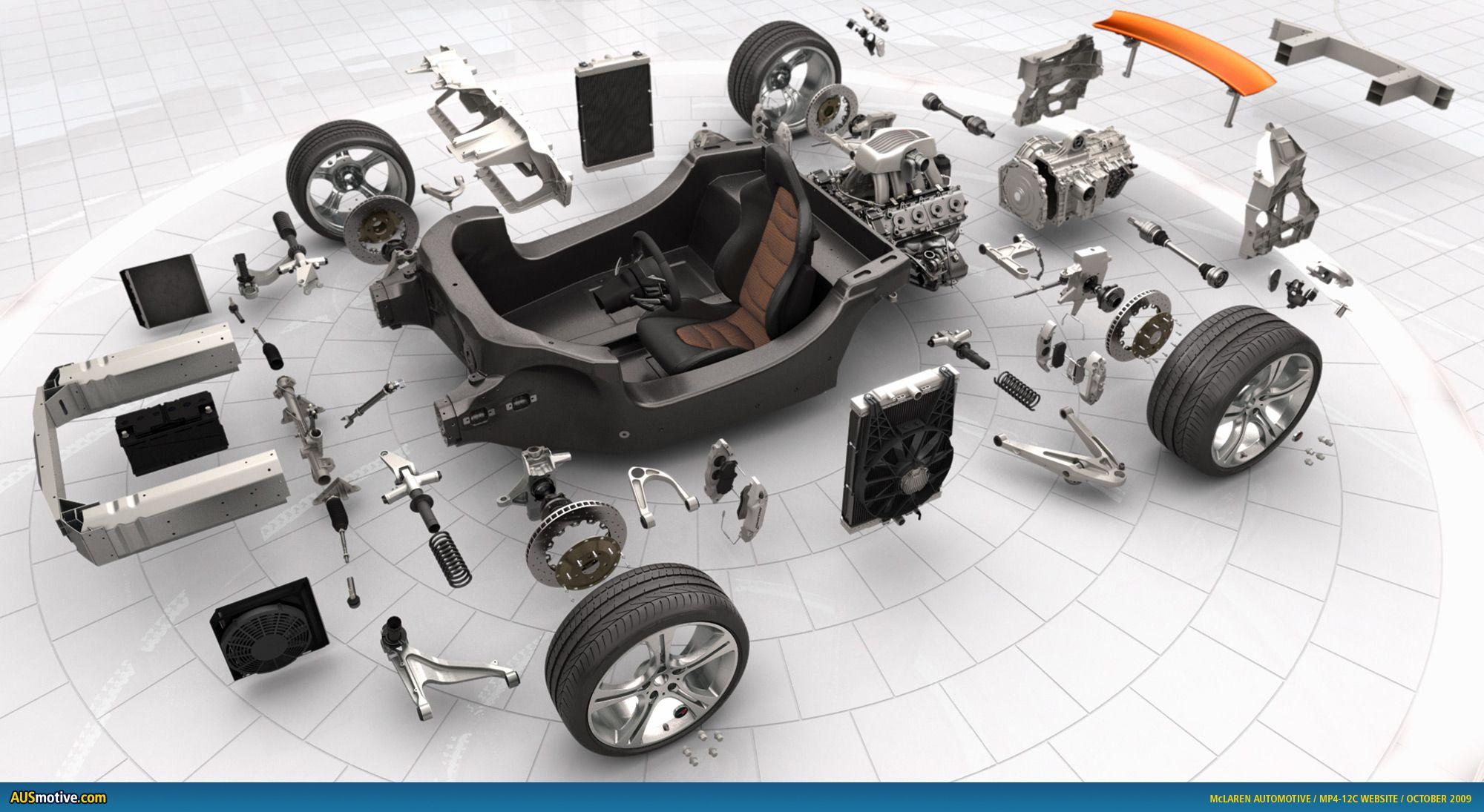 McLaren MP4-12c Exploded View | Dream Cars | Pinterest | Mp4 12c ...