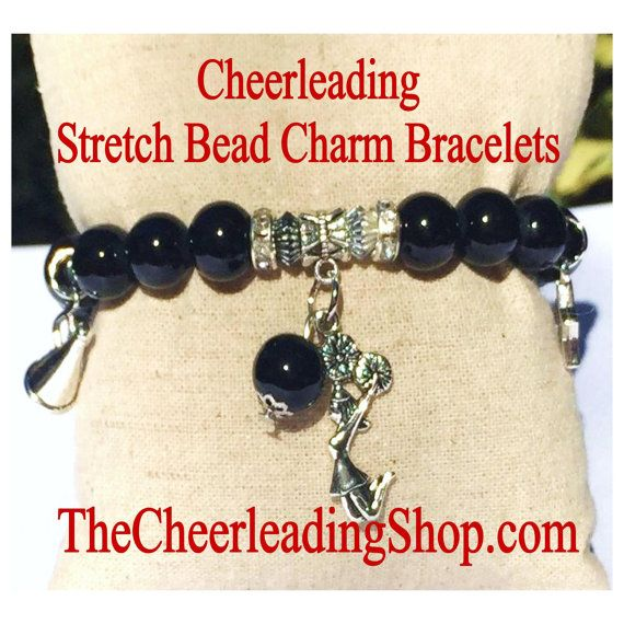 We are loving these Stretch Glass Bead Cheerleading Bracelets from TheCheerleadingShop.com ! They come in 5 colors and are perfect by themselves or for layering! Get yours today as they are LIMITED! :-)