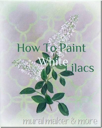 Easy beginner's painting tutorial for white lilacs