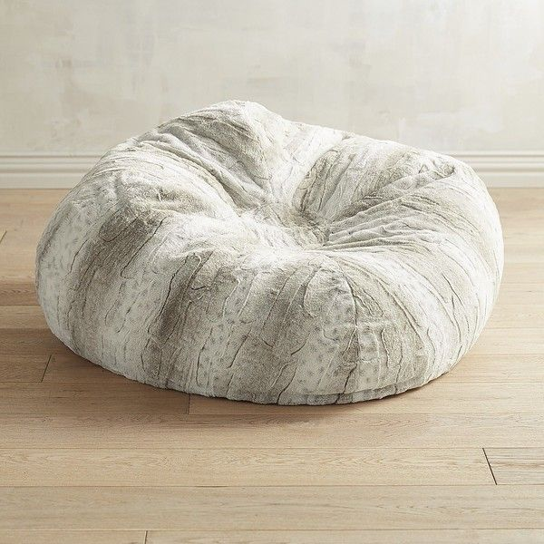 Pier 1 Imports Fuzzy Faux Fur Snow Leopard Bean Bag 130 Liked On Polyvore Featuring Home Furniture Chairs Accent Chair