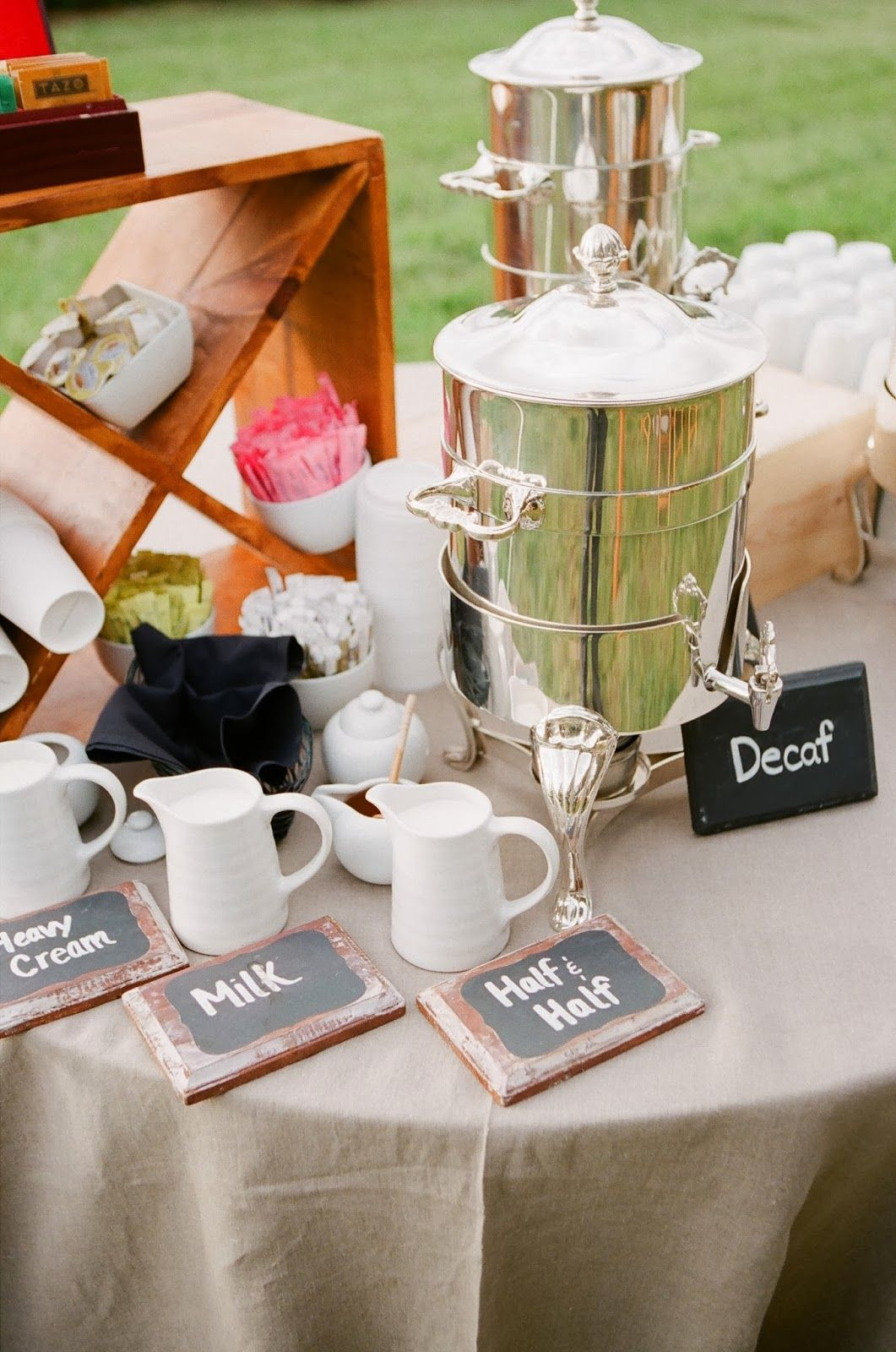 looking back at 2013... wedding coffee station. www