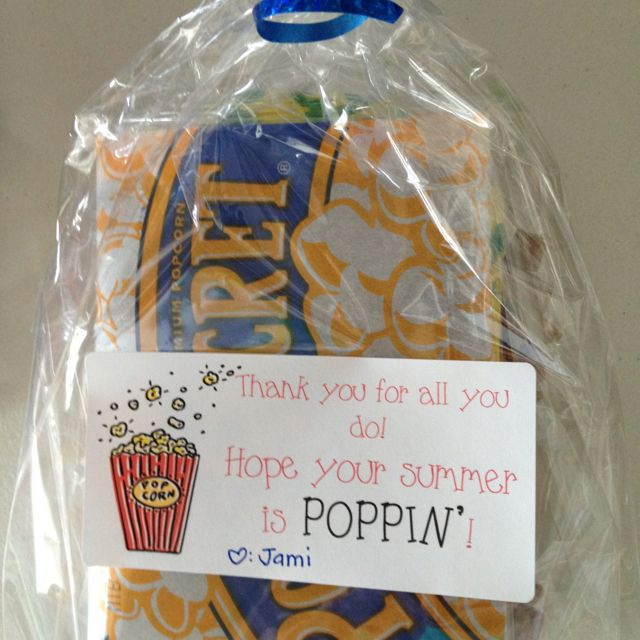 Popcorn and Arare thank you gift  | gift ideas | Volunteer