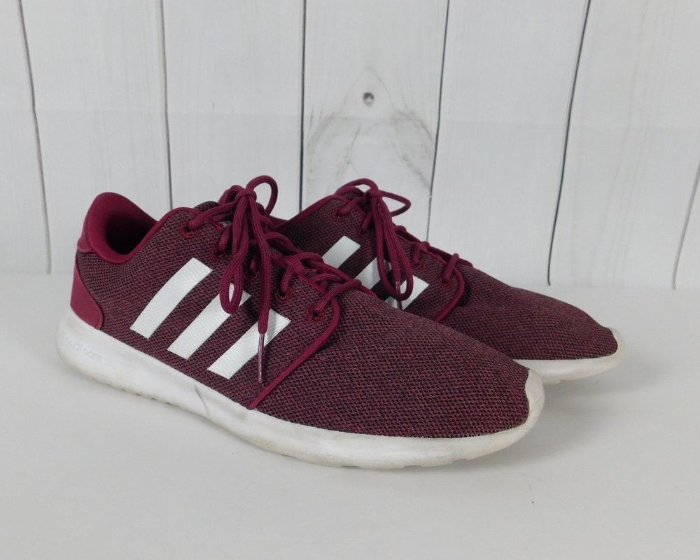 on sale 7db31 58ea6 Adidas Burgundy White Cloudfoam QT Racer Running Shoes ...