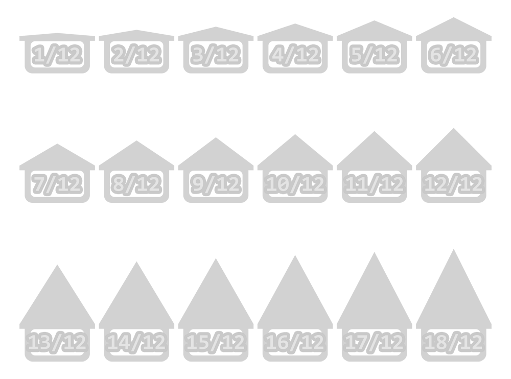 Roof Pitch Angles; 1/12 To 18/12