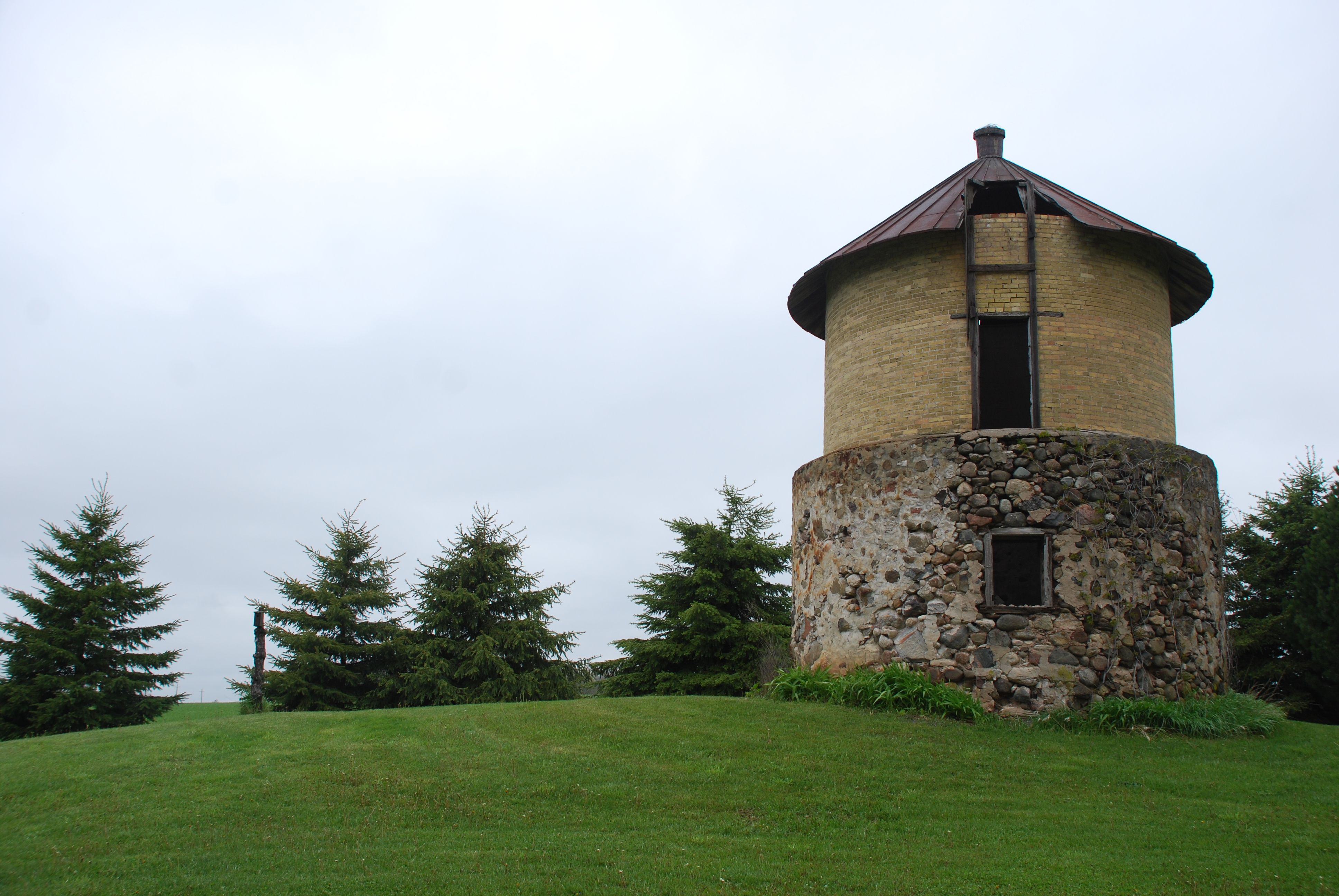 Slip-formed stone and mortared brick silo. | Good design | Pinterest ...