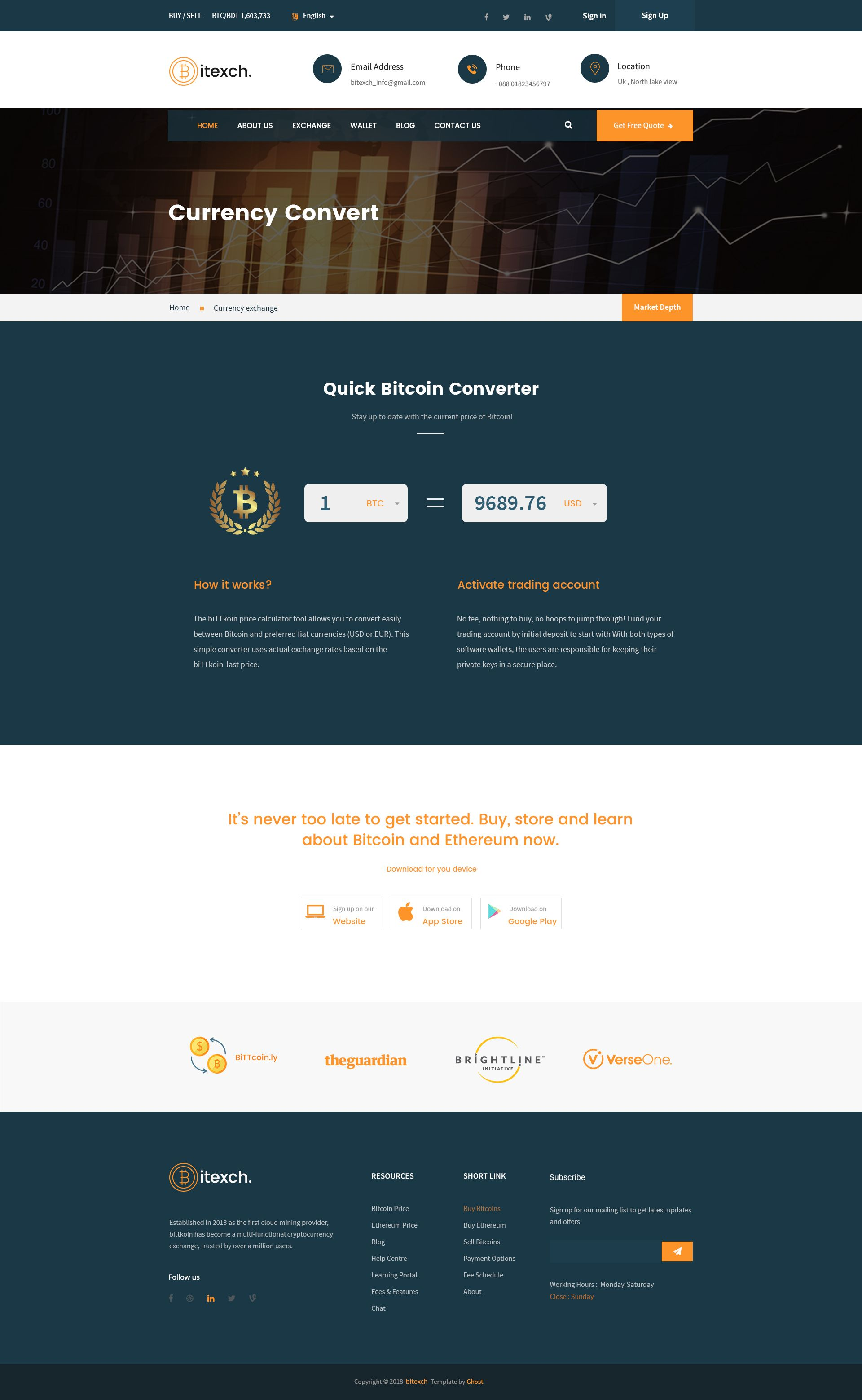 Digital Currency and Bitcoins PSD Template Psd templates