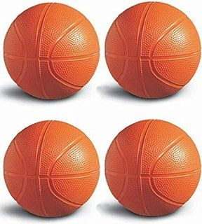 Toddler/Kids Replacement Basketball - 6 Inch Diameter (Pack of 4)