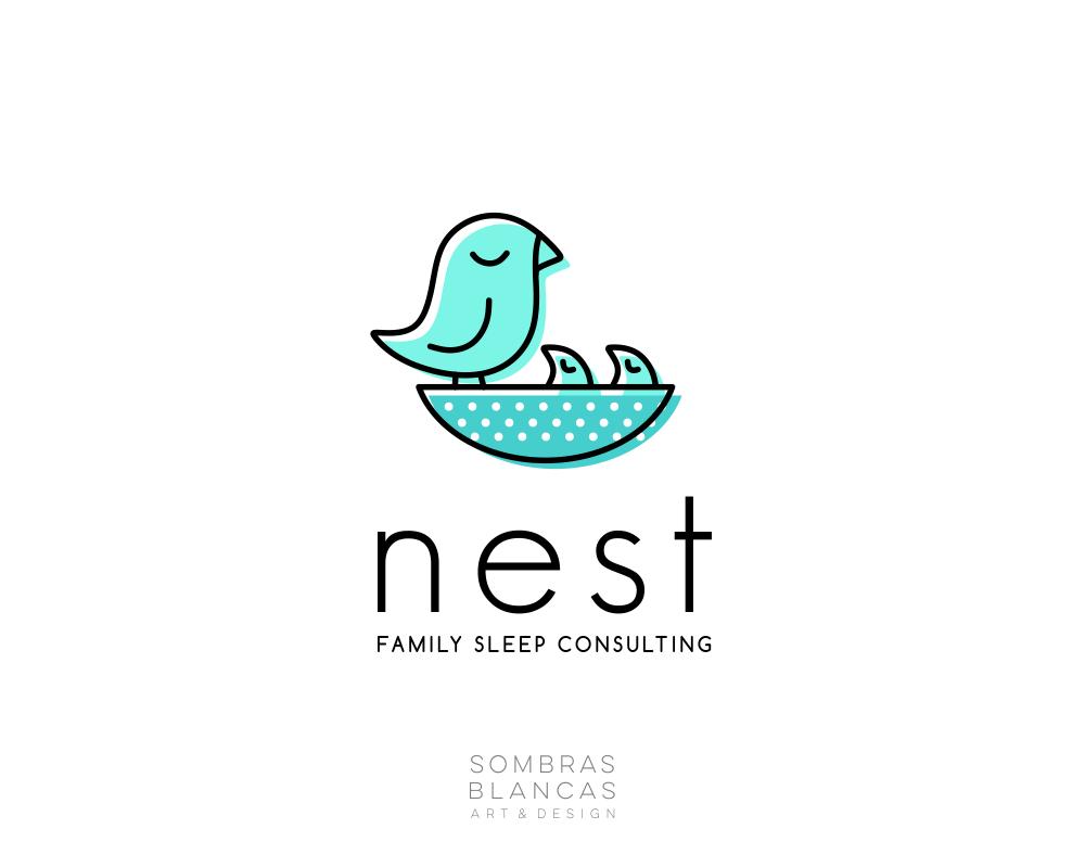 Nest Heath Connections Nest Logo Care Logo Logo Design