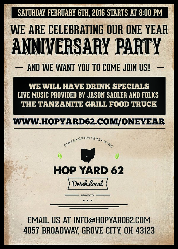 Best of the Bus Winner Hop Yard 62 To Celebrate 1Year