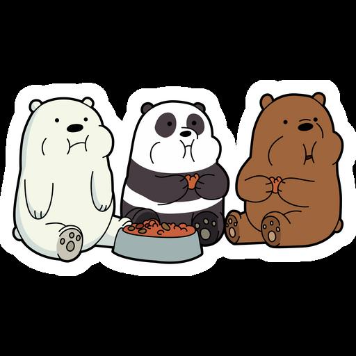 We Bare Bears Eating Sticker We Bare Bears Bare Bears Cute Panda Wallpaper