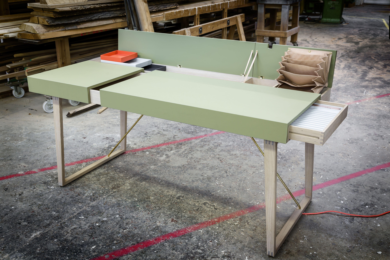 skrivebord, arbejdsbord, Legato, Gardehvalsø #overflade #forbo #interiordesign #linoleum