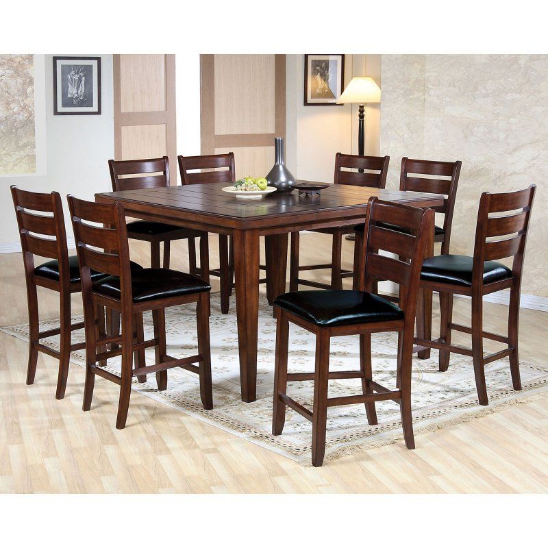 Acme Furniture Urbana 9 Piece Square Counter Height Dining Table S