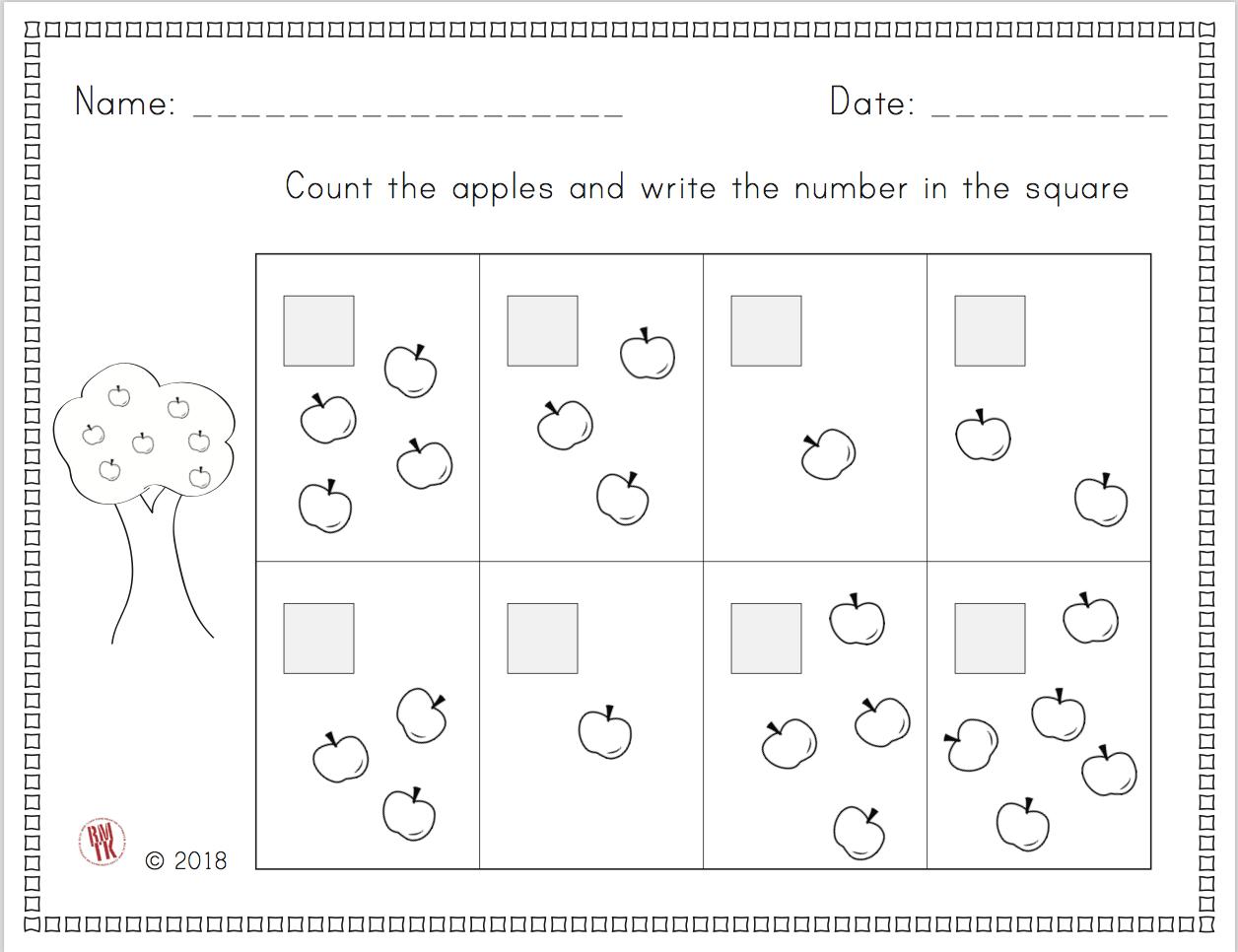Kindergarten Counting Worksheet Kindergarten Teachers