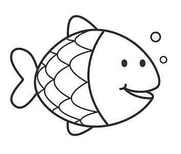 Pin By Kayla Rankin On Preschool Fish Coloring Page Animal Coloring Pages Art Worksheets