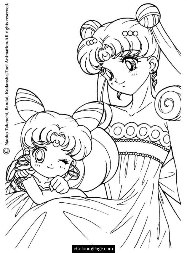 Anime sailor moon princess coloring page for kids printable | Tô màu ...