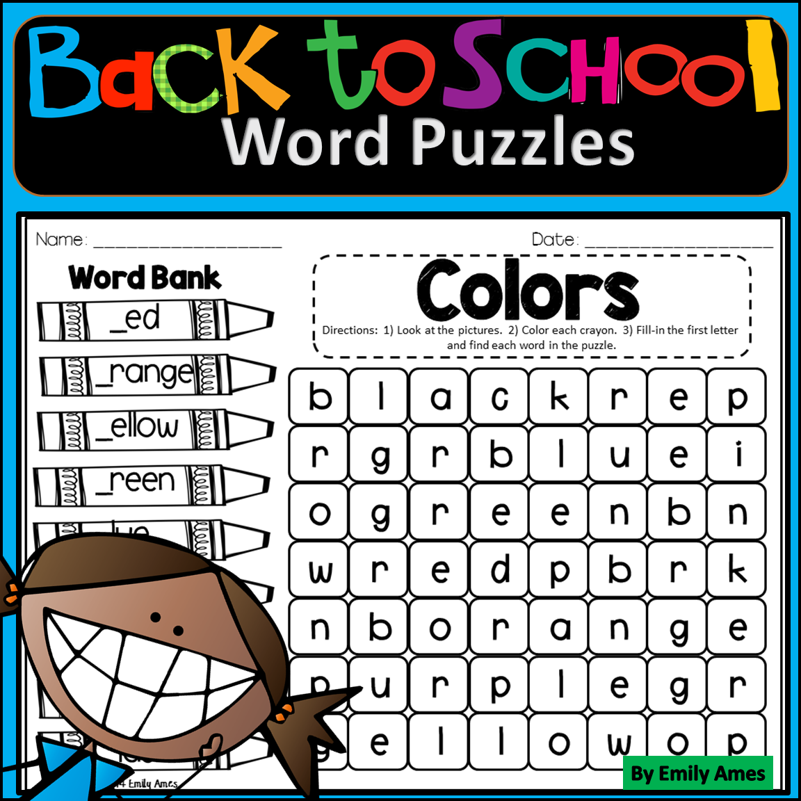 Back To School Word Search Fill In And Find Phonics