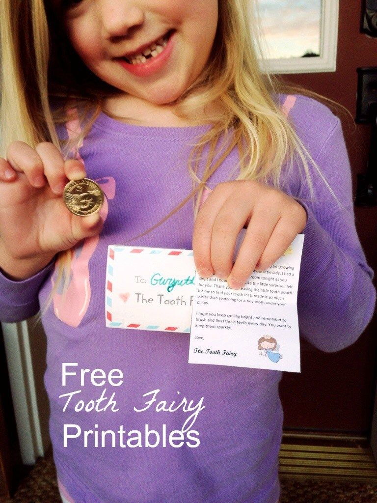 Tooth Fairy Letter {free printable} #toothfairyideas
