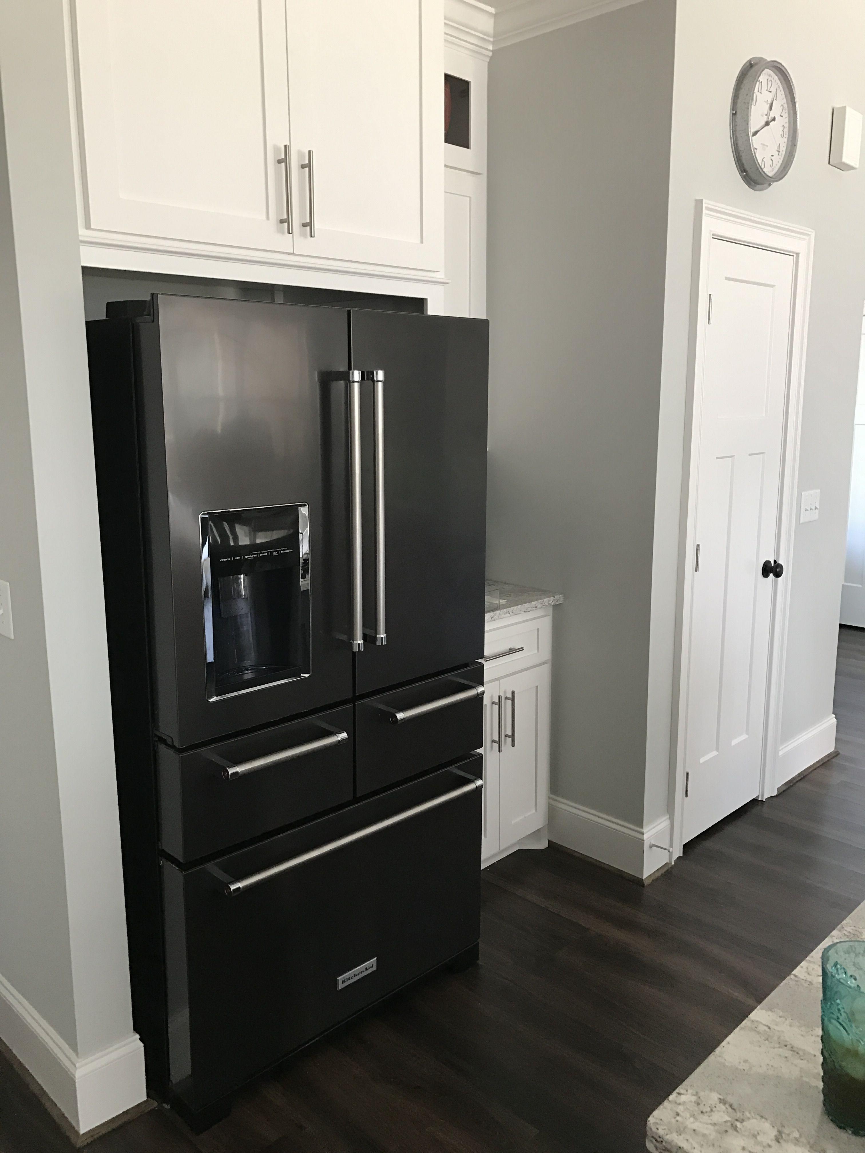 Black stainless kitchenaid refrigerator kitchen aid