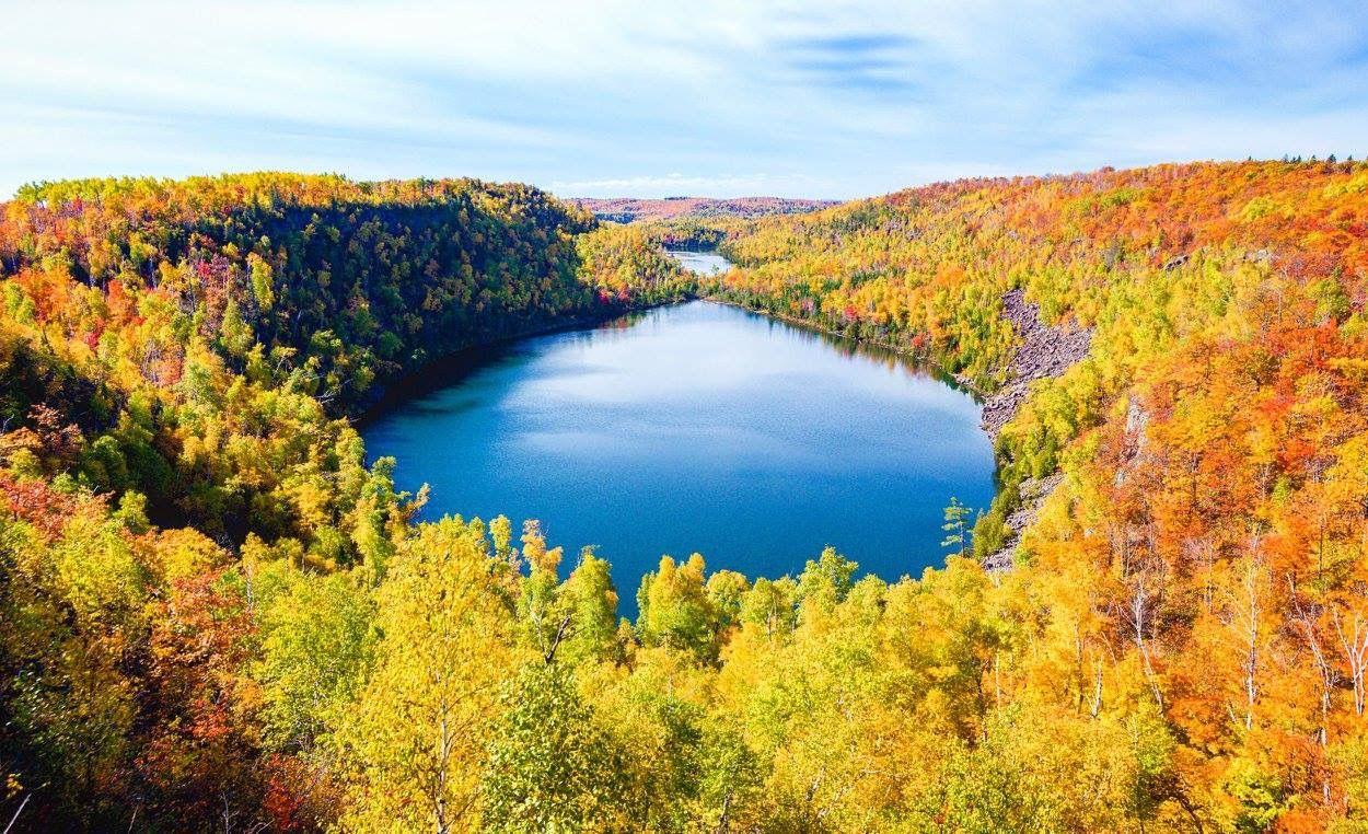 Bear Lake and Bean Lake from Superior Hiking Trail, MN