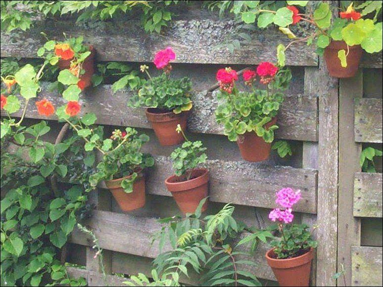 Flower Pots Decoration Ideas Hanging Garden Garden Design