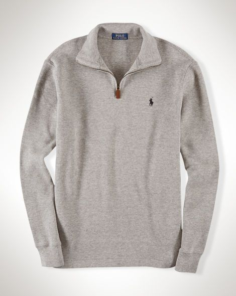 58b274b1b Ralph lauren Polo Big   Tall French-Rib Half-Zip Pullover - Battalion  Heather