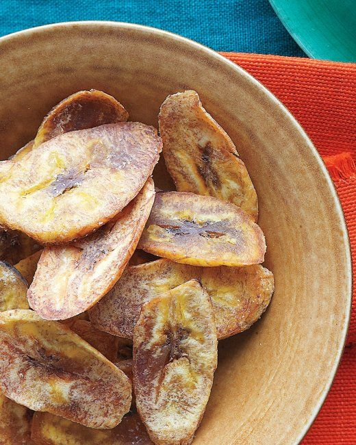 Baked Plantain Chips Recipe Recipe Baked Plantains Baked Plantain Chips Snacks