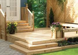 low wood deck no railing Google Search Backyard