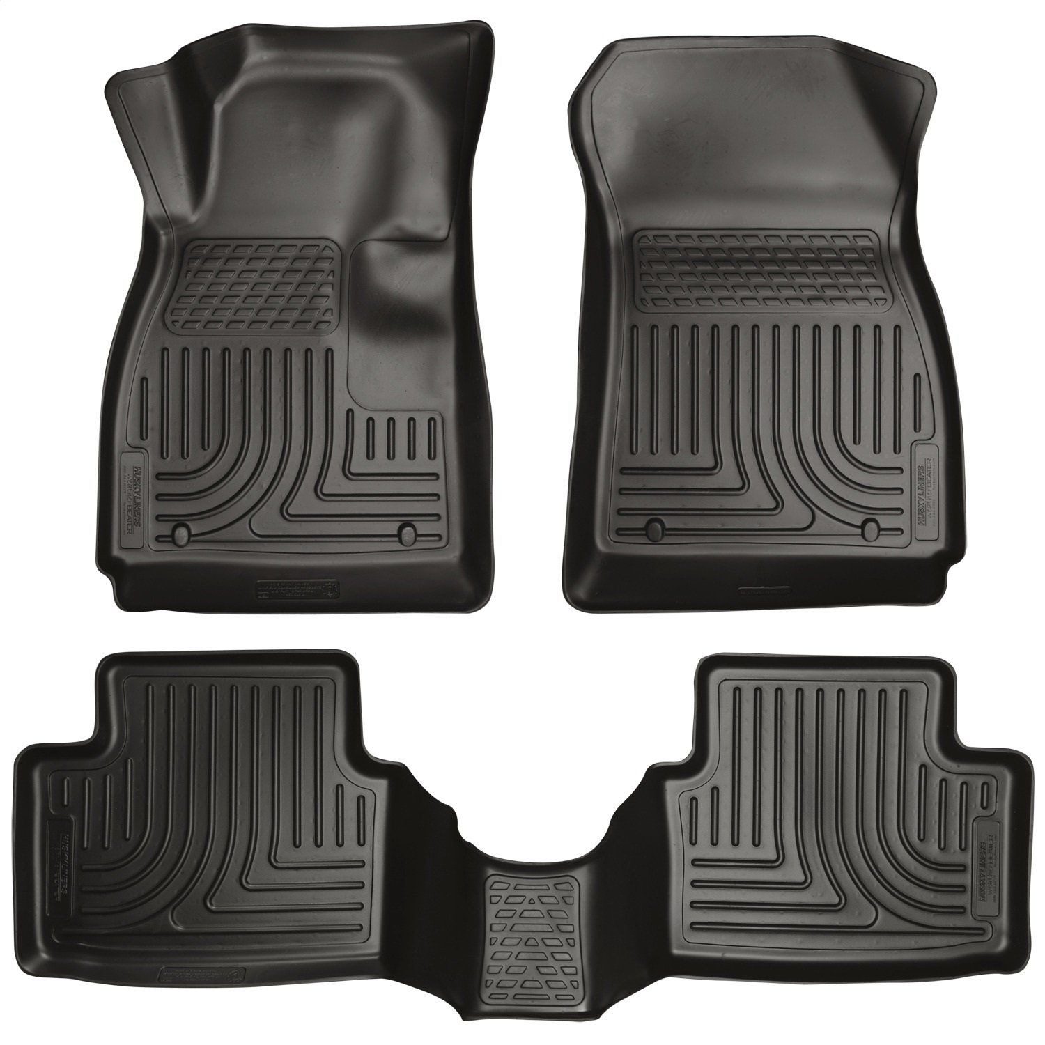 Husky Liners 99311 Weatherbeater Series Custom Fit Front and Second Seat Floor Liner Black