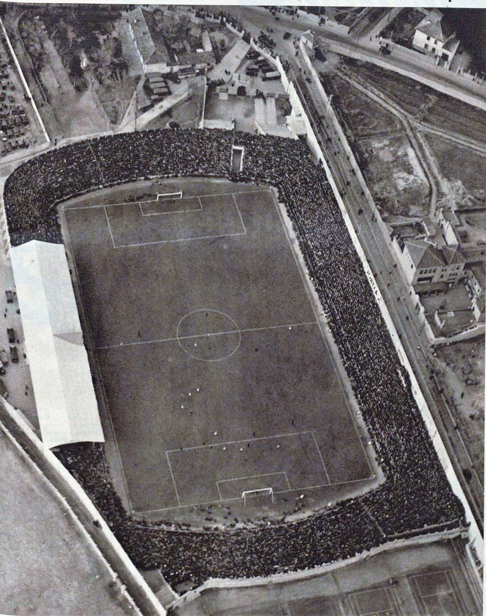 Trazado original del campo de Chamartín. Foto tomada el 25 de enero de 1935 durante en España- Francia