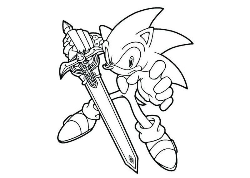 Sonic The Hedgehog Coloring Pages Cartoon Coloring Pages Super